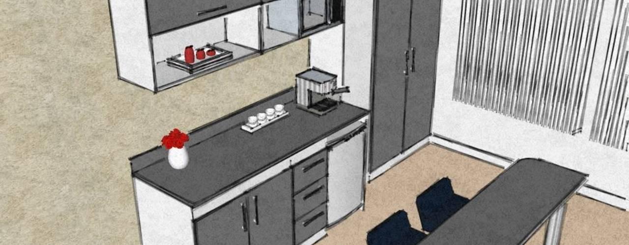 Kitchenette Grupo Creativo DF, C.A. Cocinas de estilo moderno Tablero DM Beige