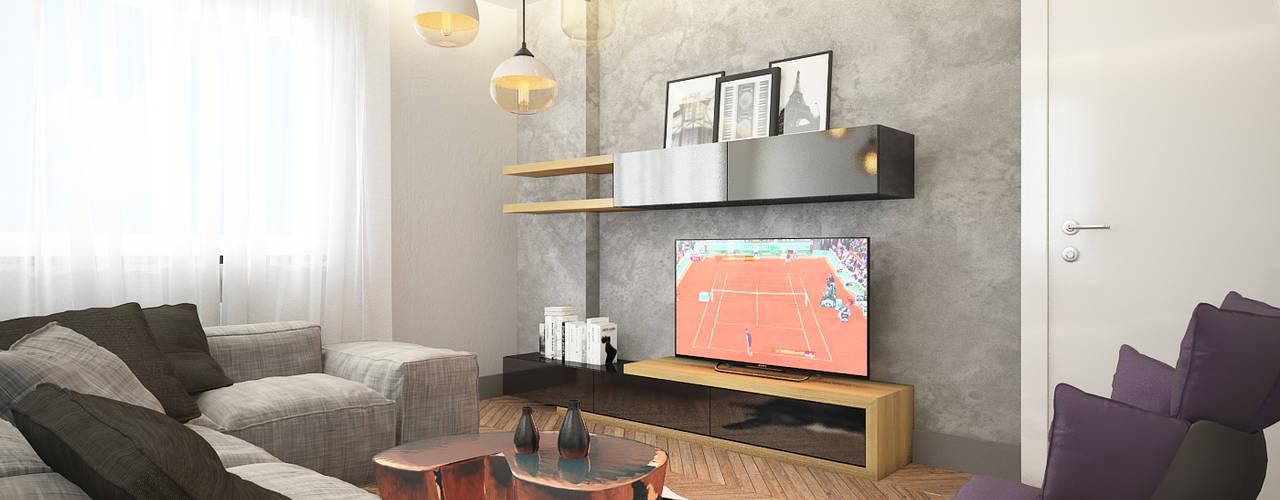 现代客厅設計點子、靈感 & 圖片 根據 Dmd Design 現代風