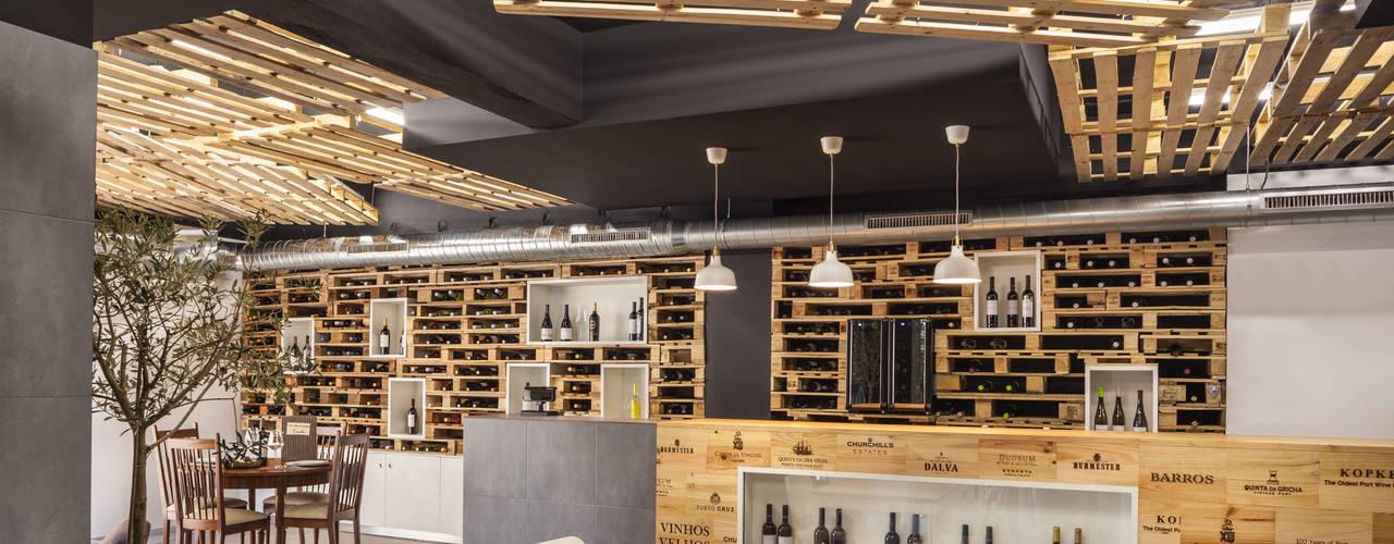 """Restaurante """"Um Cibo no Prato"""" - Braga: Espaços de restauração  por Inception Architects Studio"""