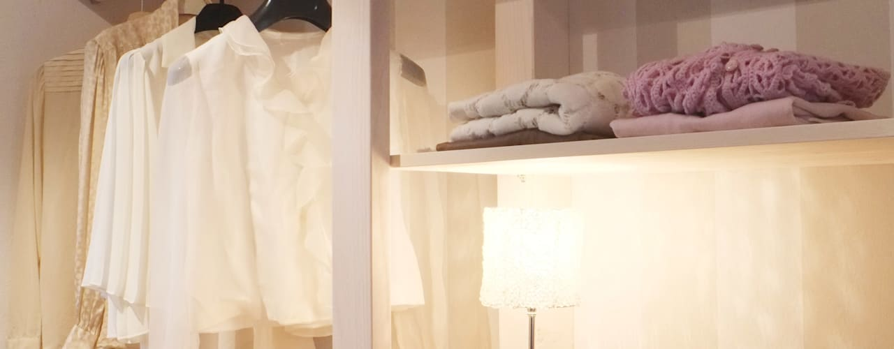 Scandinavian style dressing room by Contesini Studio & Bottega Scandinavian