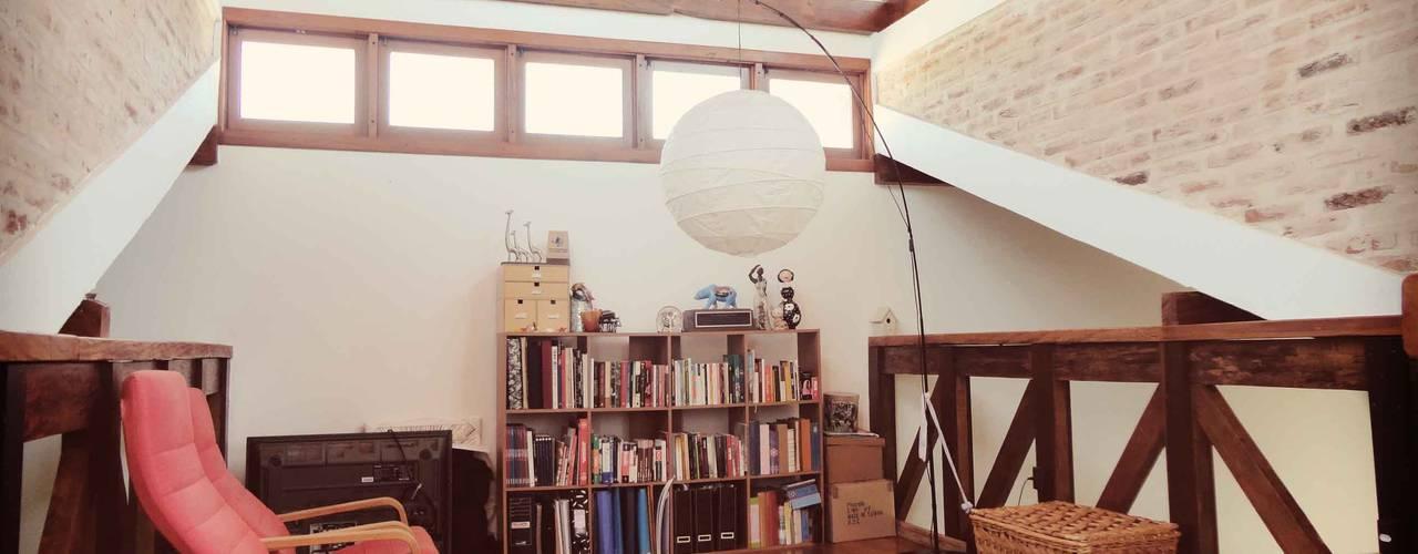 Zani.arquitetura: rustik tarz tarz Çalışma Odası