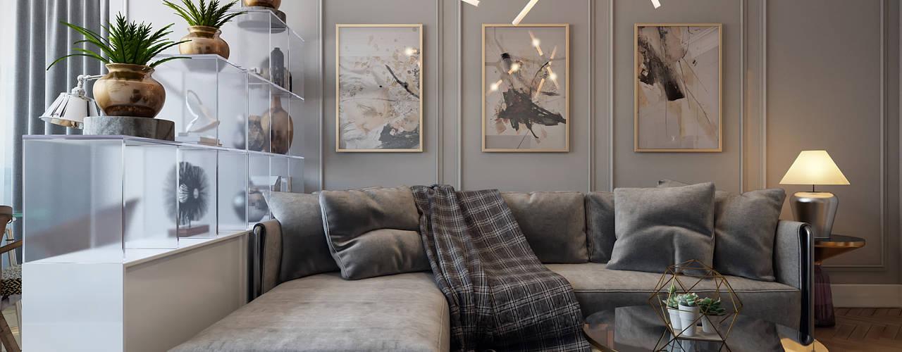Salones de estilo ecléctico de Дарья Баранович Дизайн Интерьера