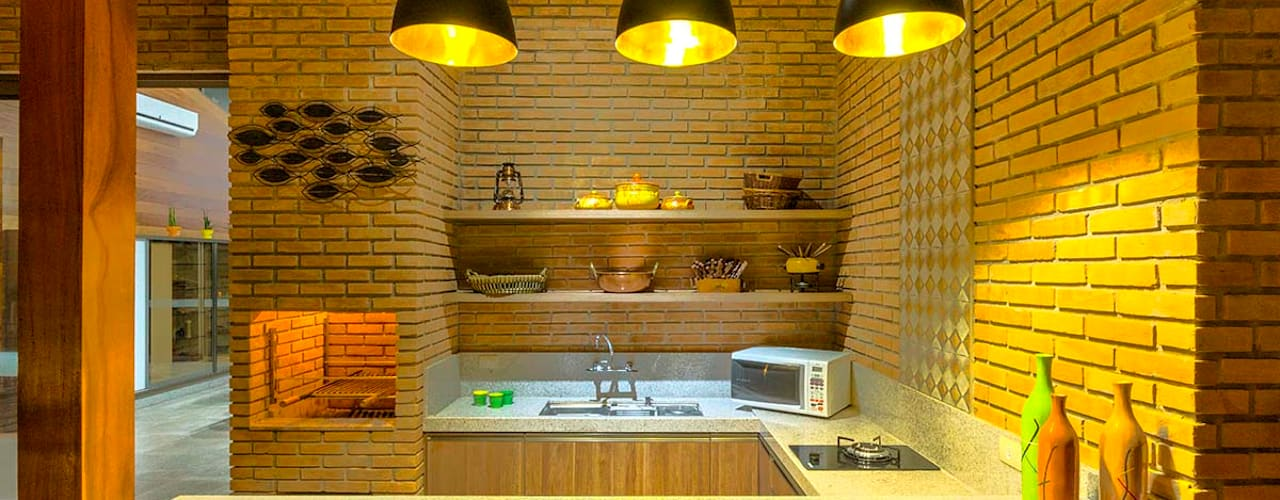 Nhà phong cách mộc mạc bởi Zani.arquitetura Mộc mạc
