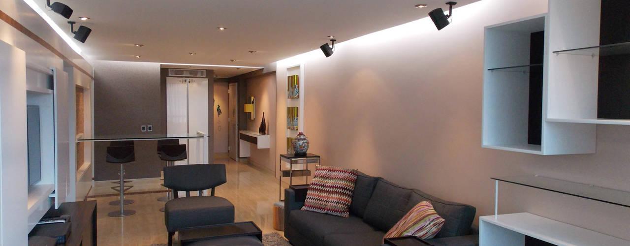 Apartamento 533: Salas / recibidores de estilo  por TRIBU ESTUDIO CREATIVO