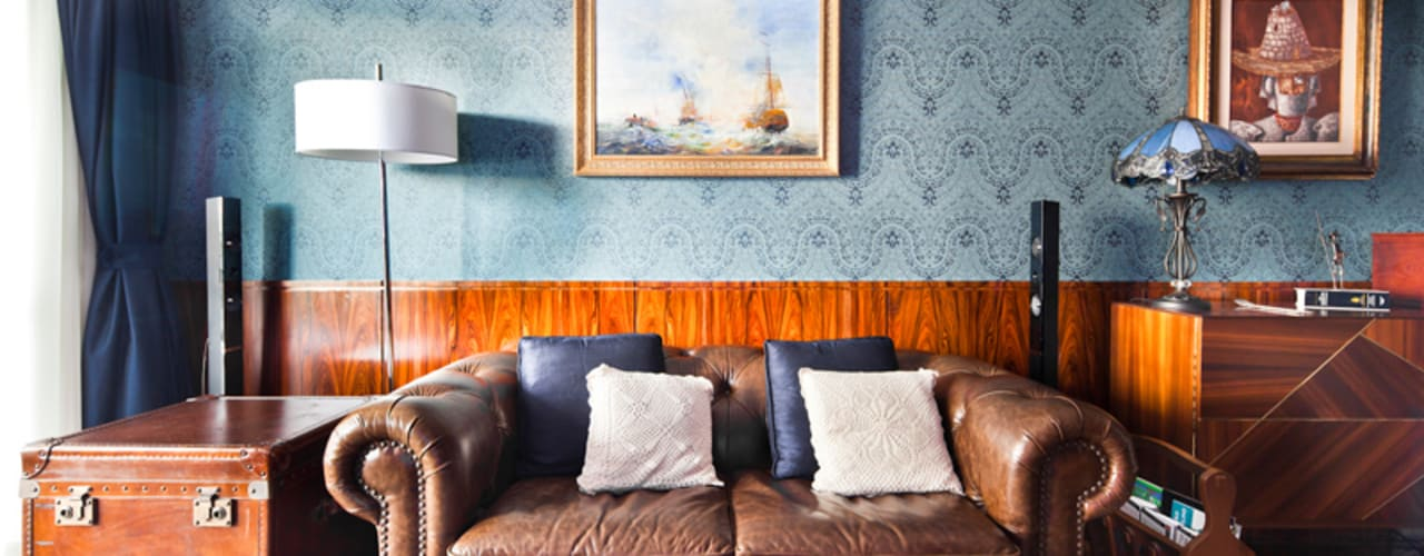 Ruang Keluarga Klasik Oleh INÁ Arquitetura Klasik