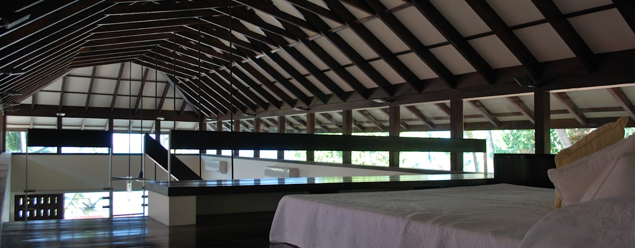 View of roof from loft:  Bedroom by GDKdesigns