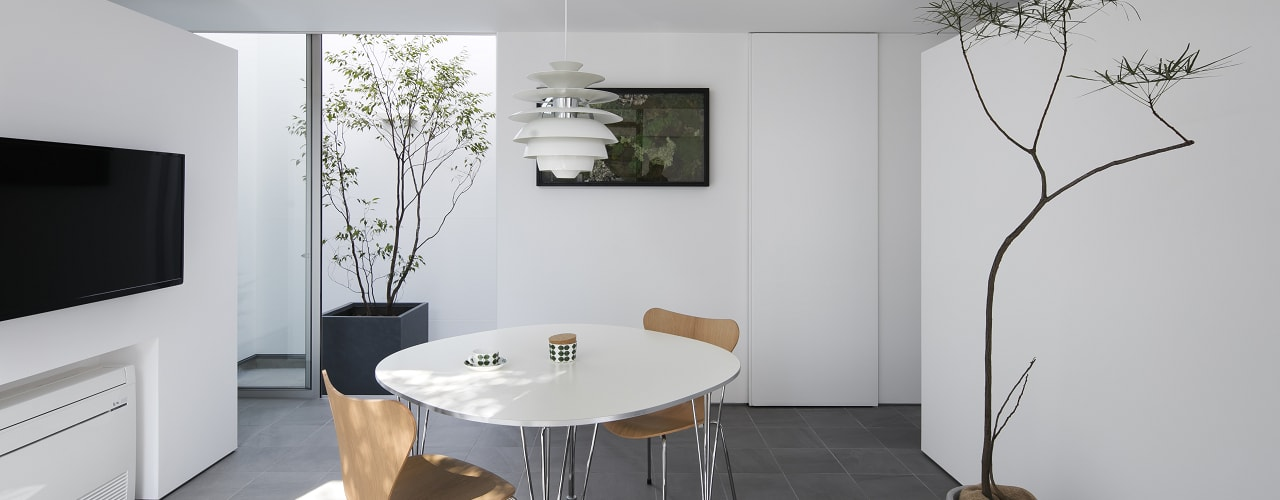 Modern dining room by プラスアトリエ一級建築士事務所 Modern
