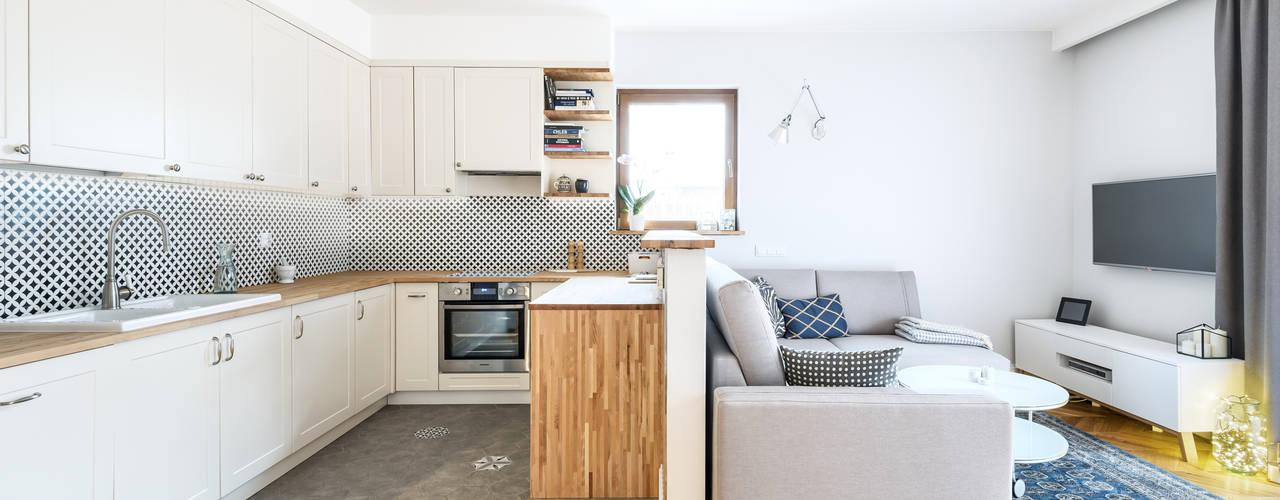 Mieszkanie Scandi: styl , w kategorii Salon zaprojektowany przez Partner Design
