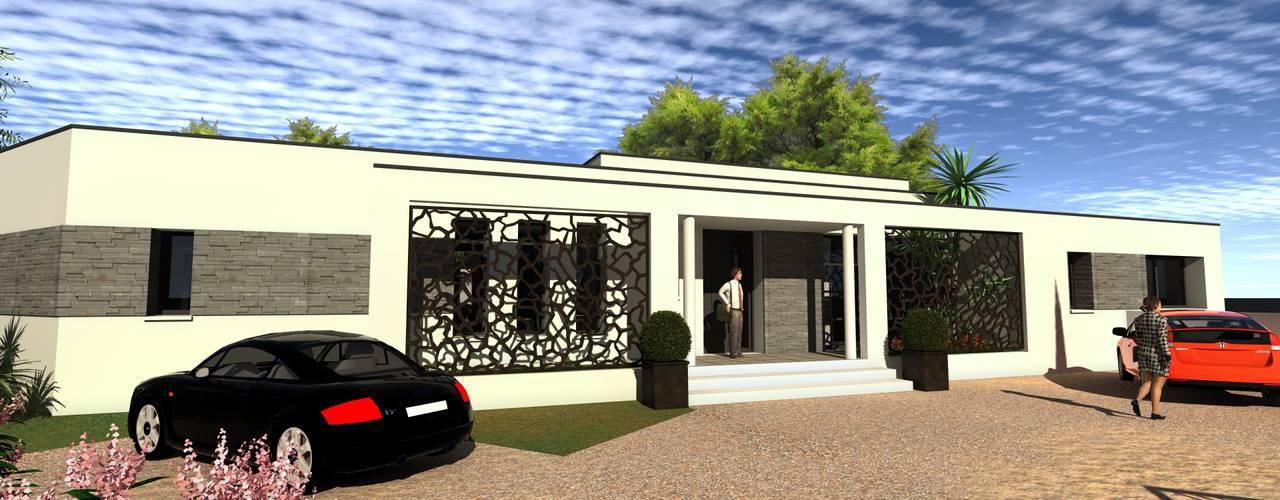 Maison individuelle Maisons modernes par Atoutplans Architecture Moderne