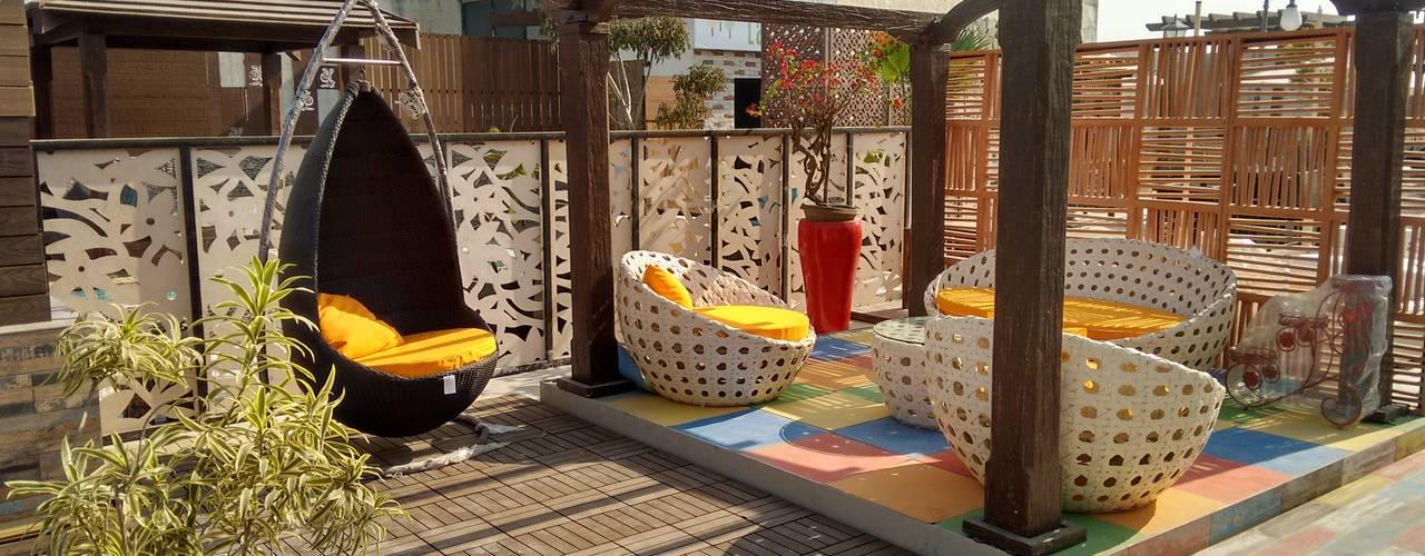 Concept Terraces Modern balcony, veranda & terrace by DG DESIGNER LANDSCAPES LLP Modern