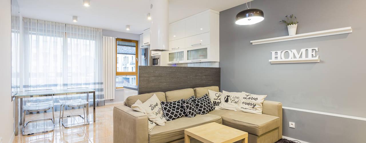 Kameleon - Kreatywne Studio Projektowania Wnętrz Scandinavian style living room