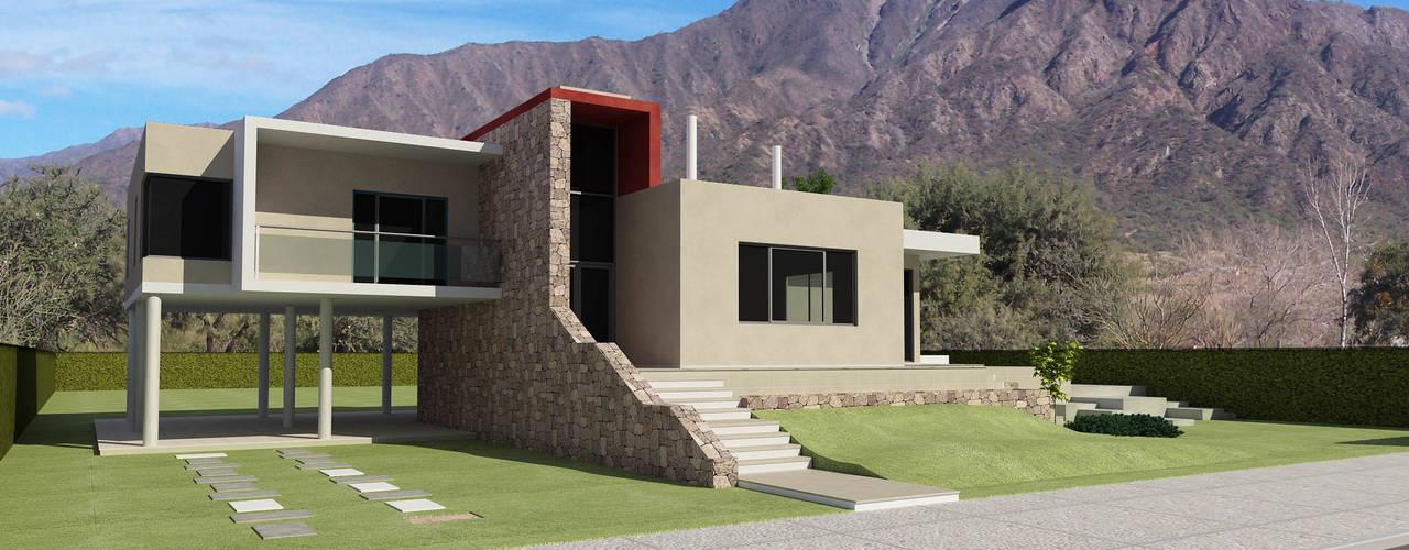 Render Exterior: Casas unifamiliares de estilo  por Arquitecto Manuel Daniel Vilte