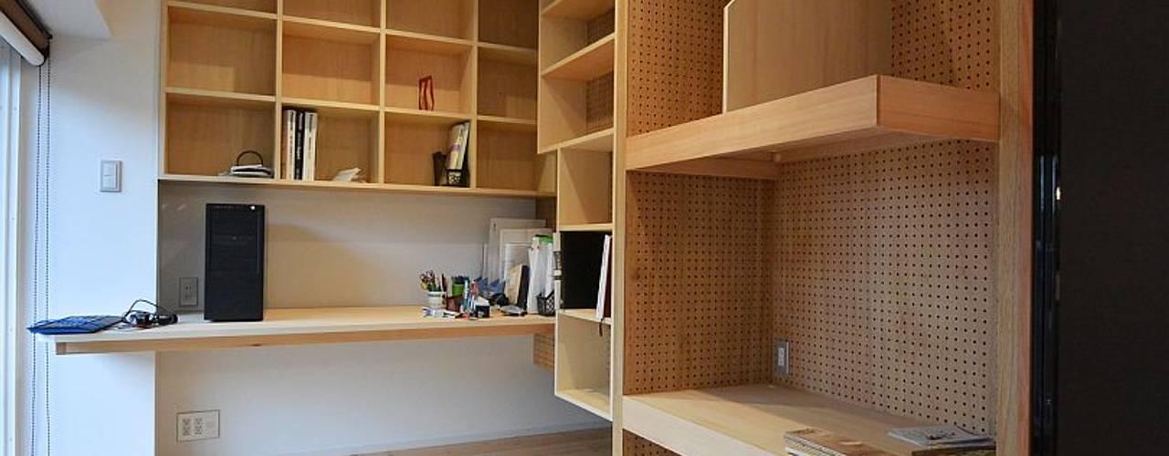 I宅 内部改修 マンションリノベーション オリジナルデザインの 書斎 の すまい研究室 一級建築士事務所 オリジナル