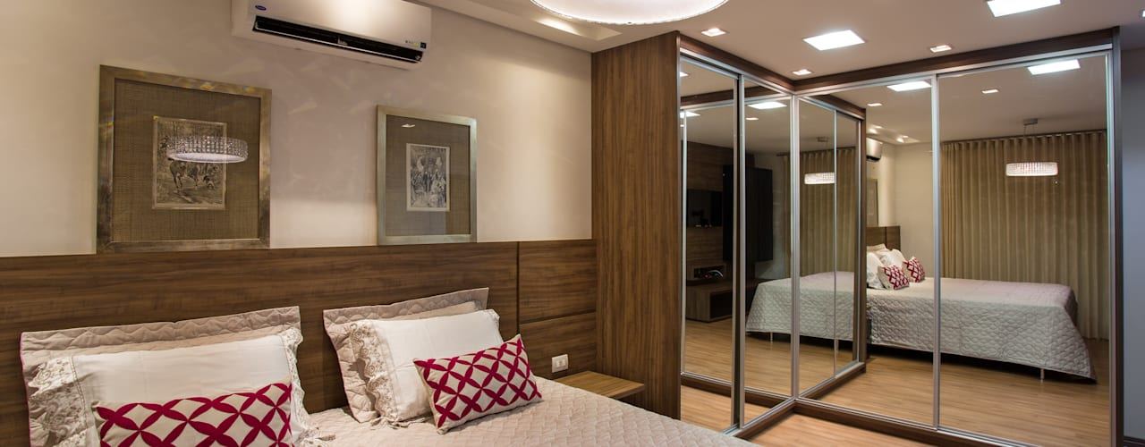 Tropical style bedroom by Cabral Arquitetura Ltda. Tropical