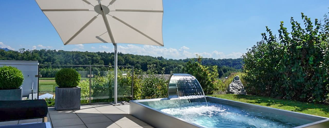Machen Sie Ihr Zuhause zum privaten Wellness-Paradies mit einem POLYTHERM Edelstahl-Whirlpool Moderne Pools von Polytherm GmbH. Modern