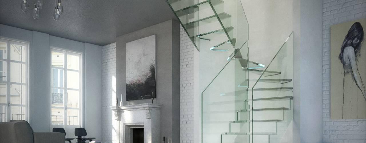 Pasillos y vestíbulos de estilo  por Siller Escaleras