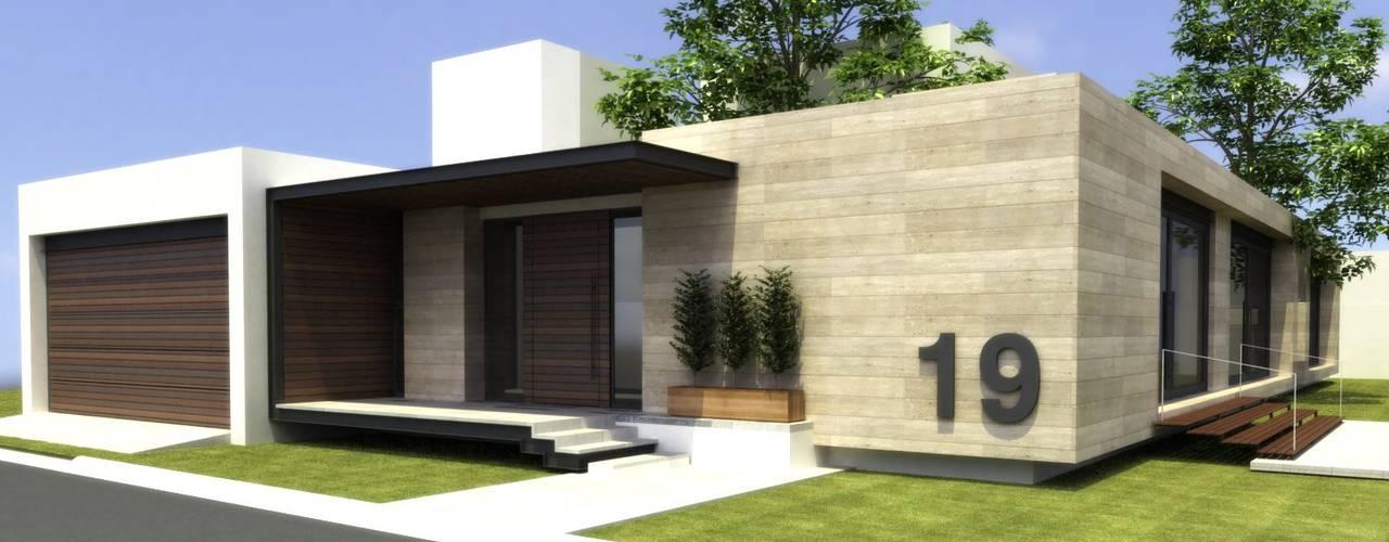 20 fachadas de casas de una planta que te inspirar n a for Modelos de casas minimalistas de una planta