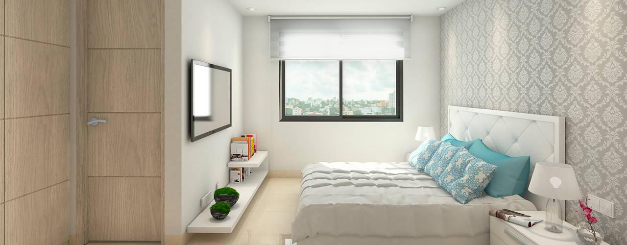 Dormitorio Principal - Evora85: Habitaciones de estilo  por Area5 arquitectura SAS