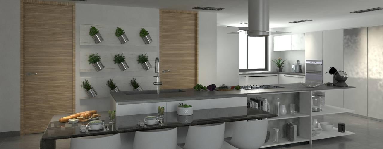 Reforma Vivienda - Primera linea de mar Cocinas modernas de Area5 arquitectura SAS Moderno