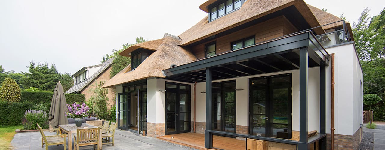 Projekty,  Taras zaprojektowane przez DENOLDERVLEUGELS Architects & Associates