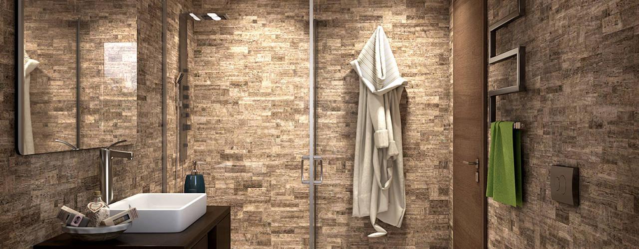 Baños de estilo  por KRISZTINA HAROSI - ARCHITECTURAL RENDERING