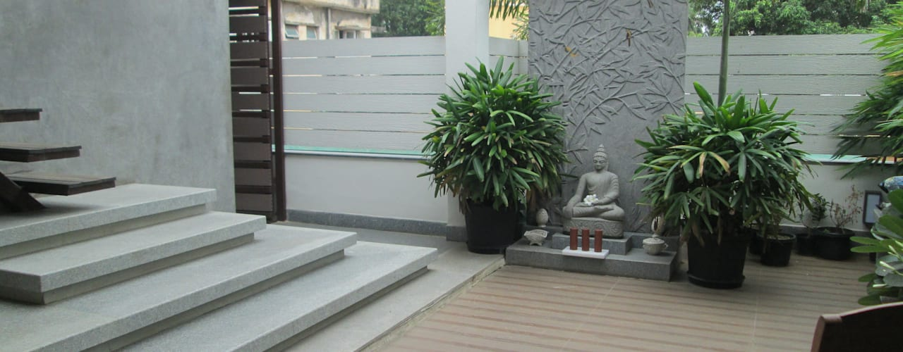 Second floor terrace - after:   by Uncut Design Lab