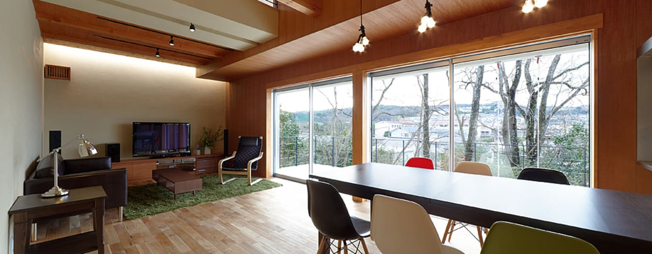 T-house オリジナルデザインの リビング の coil松村一輝建設計事務所 オリジナル