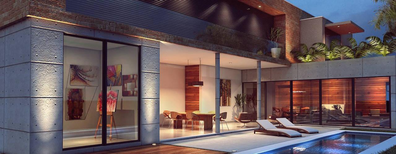 Casas de estilo  por Lozí - Projeto e Obra