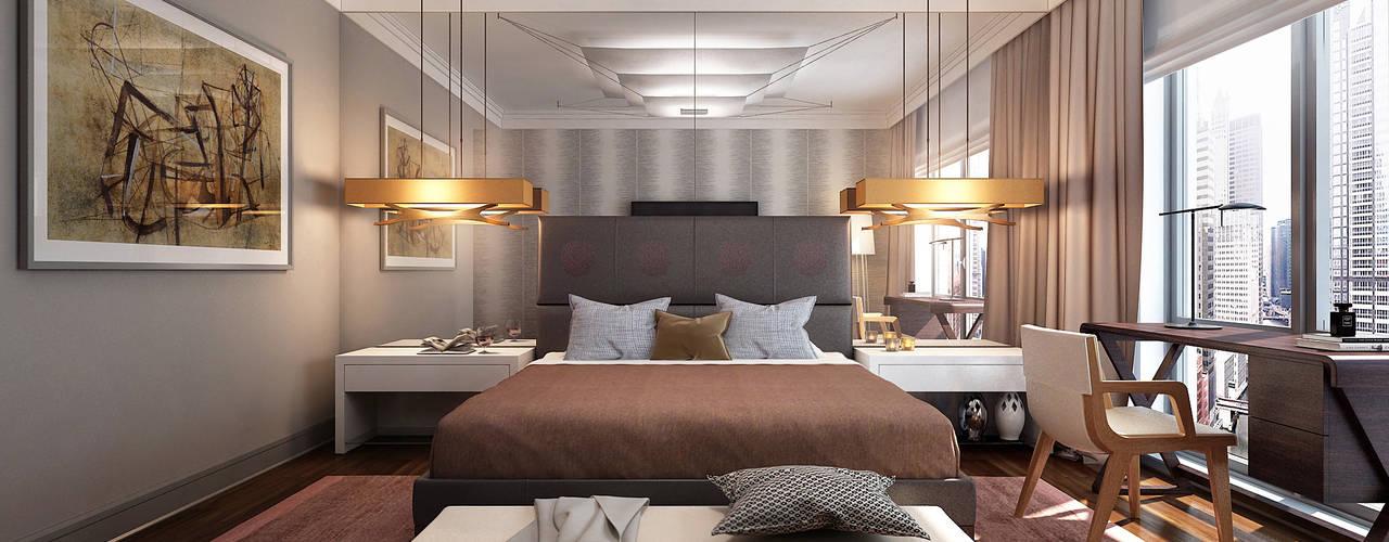 New York. New York Спальня в эклектичном стиле от KAPRANDESIGN Эклектичный
