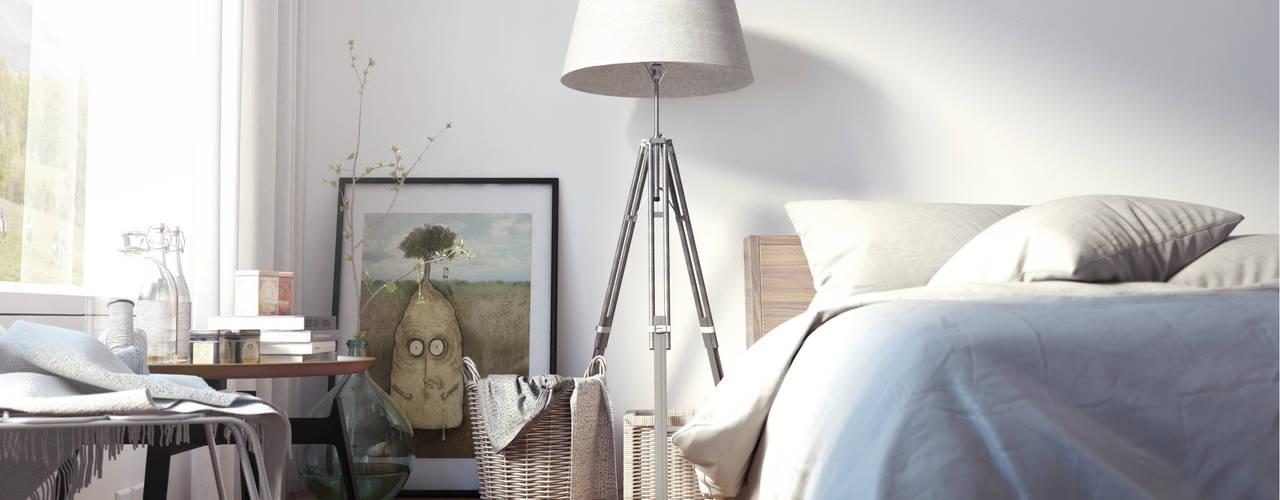 Dormitorios de estilo  por SF Render