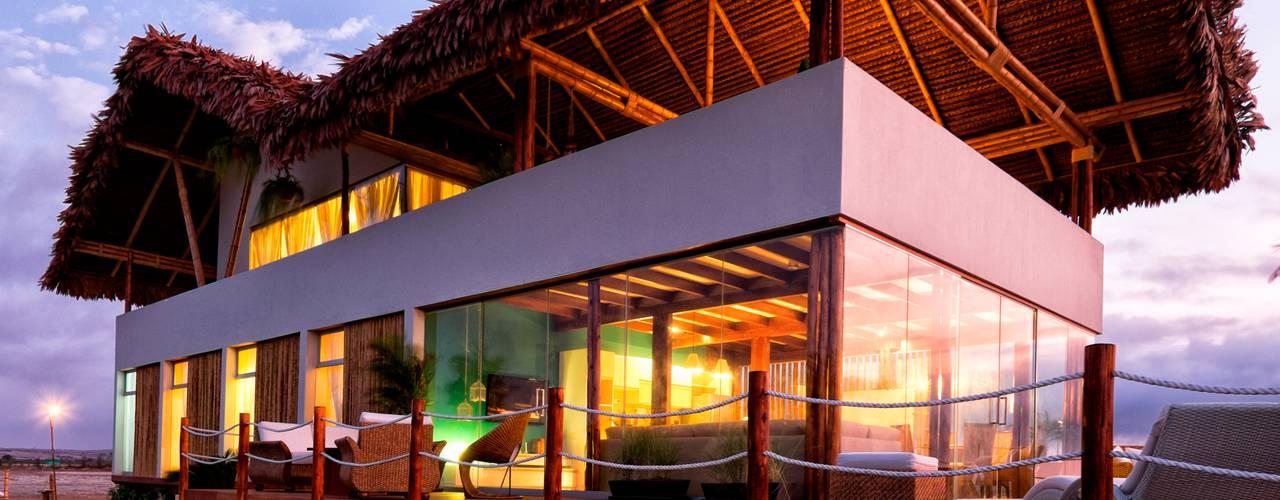 Casas de estilo  por YUPANA Arquitectos, Rústico