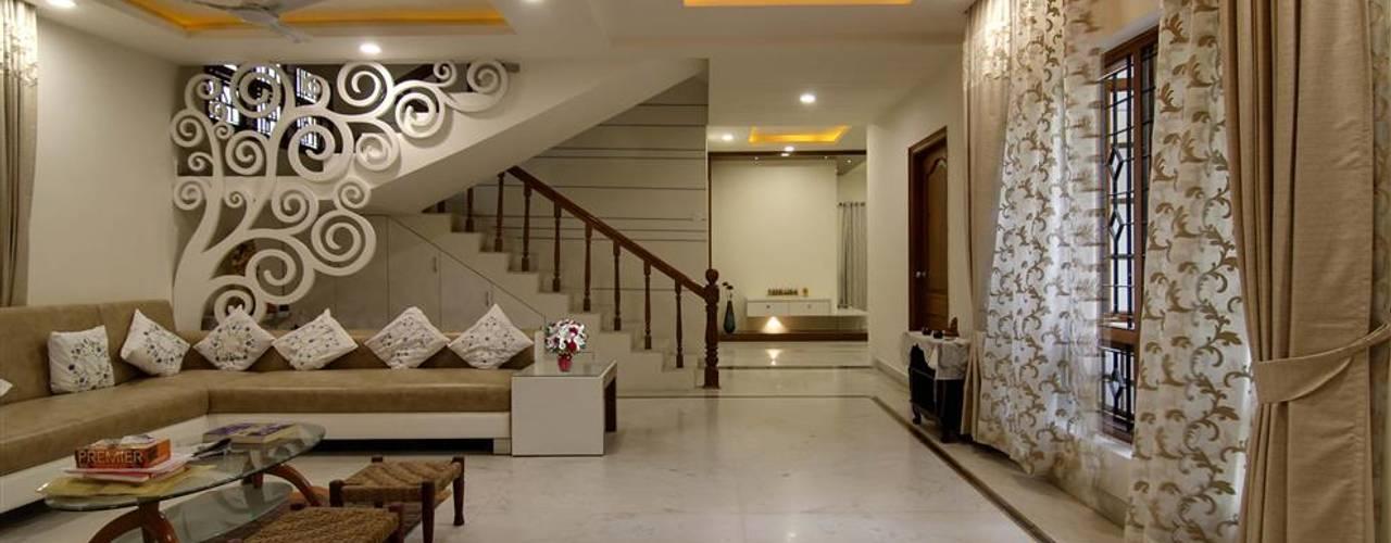 Salas de estar  por KREATIVE HOUSE