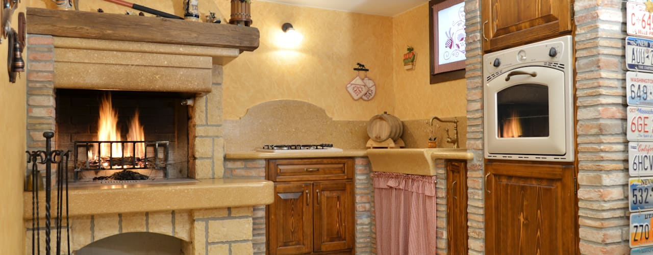 Kitchen by SALM Caminetti, Rustic