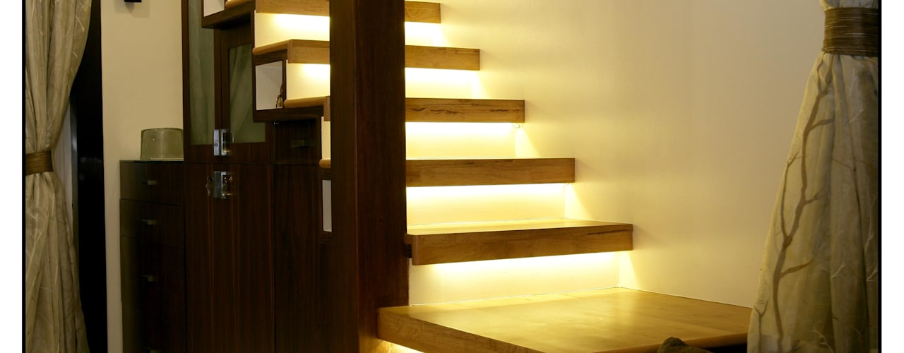 ห้องโถงทางเดินและบันไดสมัยใหม่ โดย Navmiti Designs โมเดิร์น