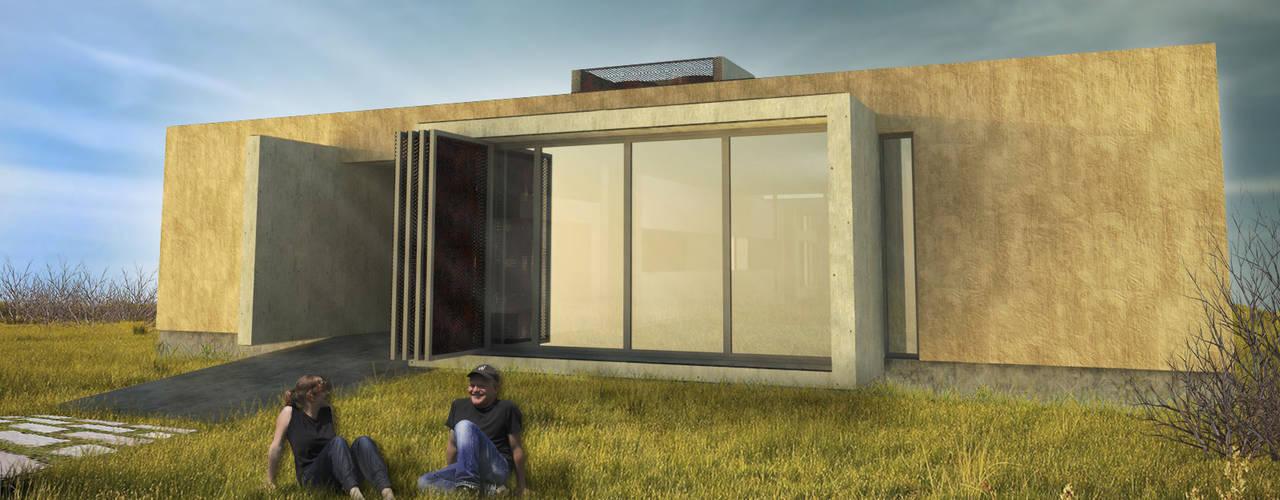 Minimalistyczne domy od Arquitecto Juan Nicolás Bobba Minimalistyczny