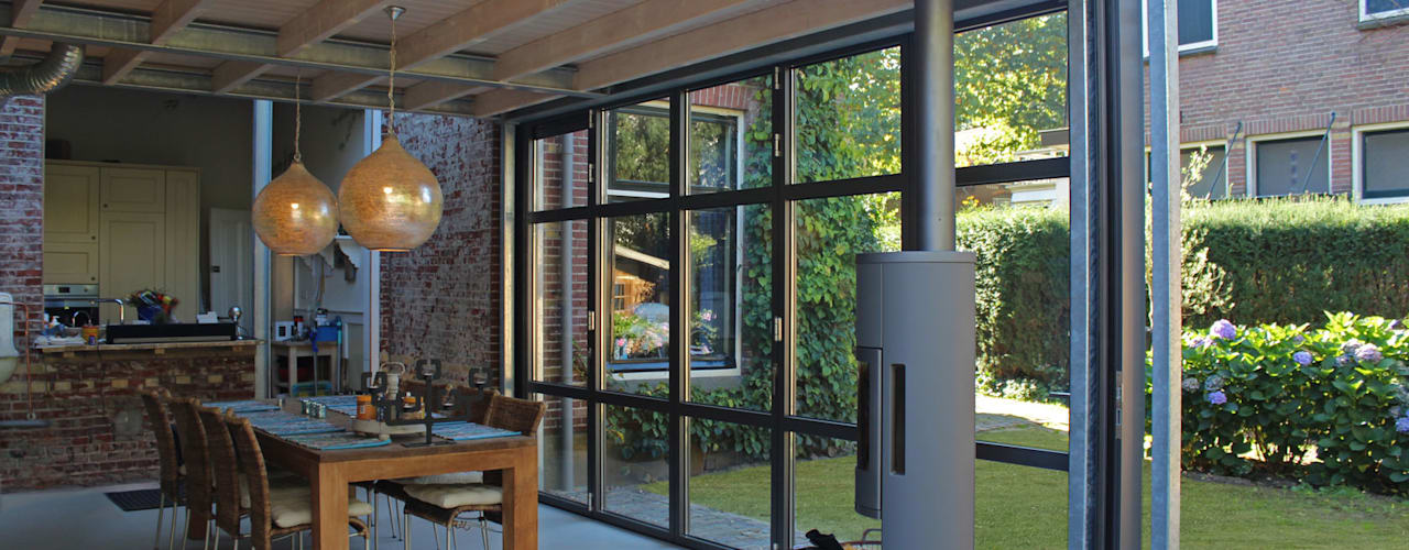 Industrial style conservatory by ID-Architectuur Industrial