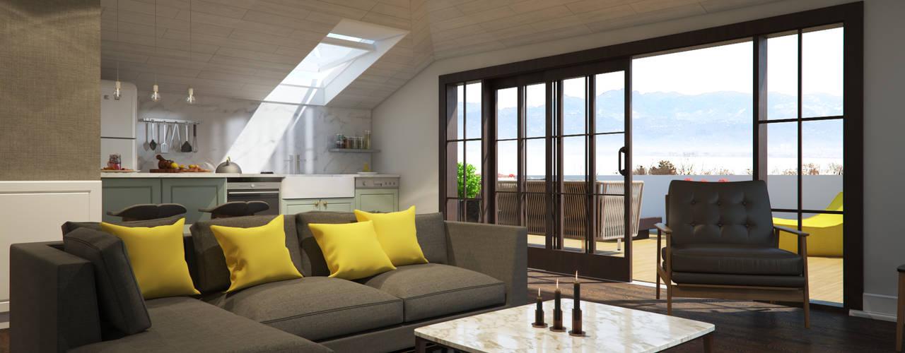 M&E TEKİNTAŞ HOME İskandinav Oturma Odası yücel partners İskandinav