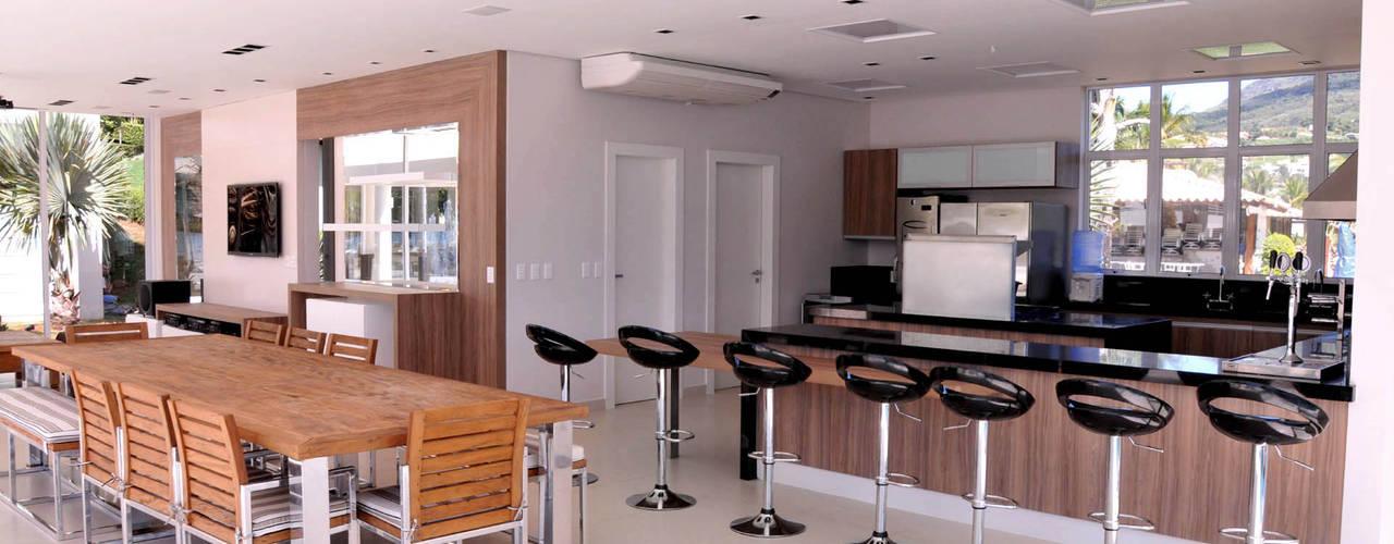 Espaço Gourmet: Cozinhas modernas por A/ZERO Arquitetura