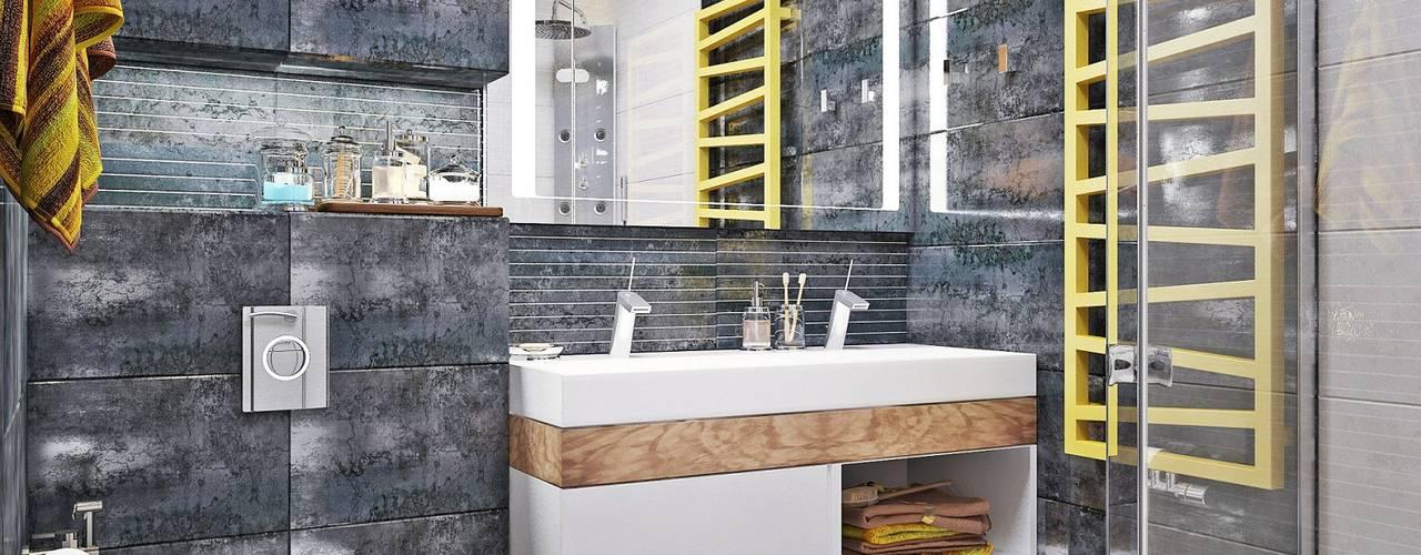 Baños de estilo  por Студия дизайна Interior Design IDEAS