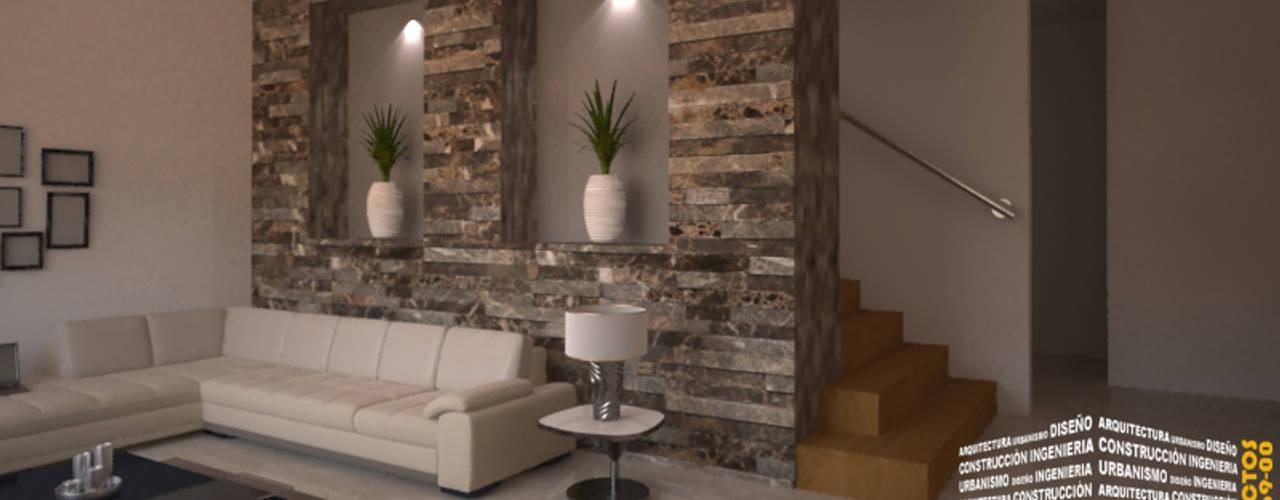 Classic corridor, hallway & stairs by HHRG ARQUITECTOS Classic