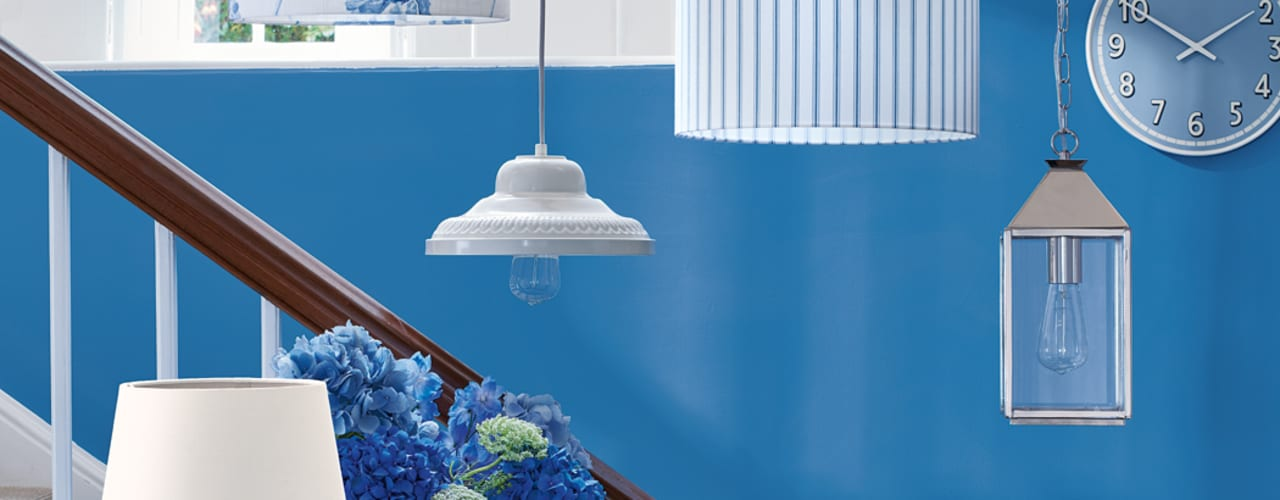 Laura Ashley Decoración Vestíbulos, pasillos y escalerasIluminación Azul