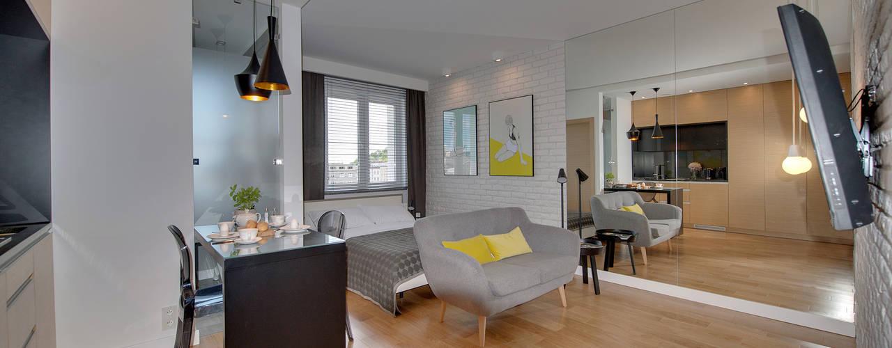 KAWALERKA - GDYNIA, WŁADYSŁAWA IV: styl , w kategorii Salon zaprojektowany przez Anna Serafin Architektura Wnętrz