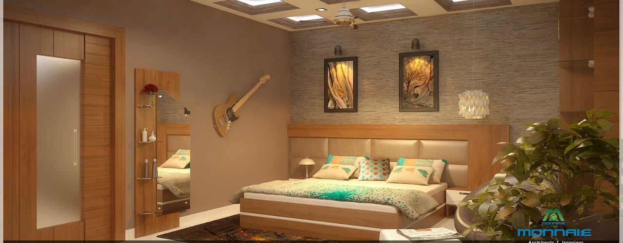 غرفة نوم تنفيذ Monnaie Architects & Interiors, كلاسيكي