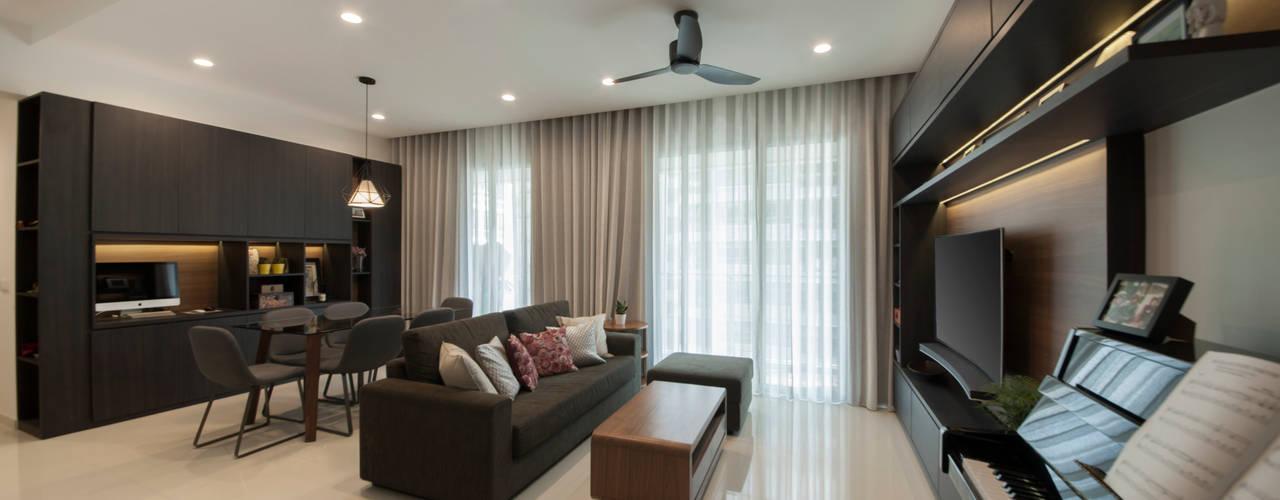 Livings de estilo  por Eightytwo Pte Ltd