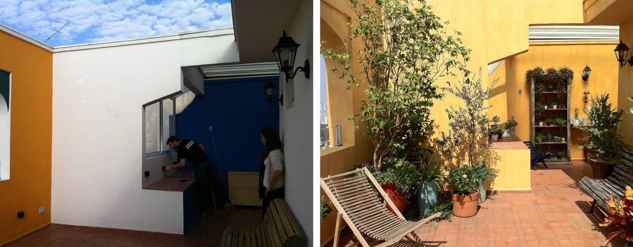Balcones y terrazas rústicos de Renata Villar Paisagismo e Arranjos Florais Rústico