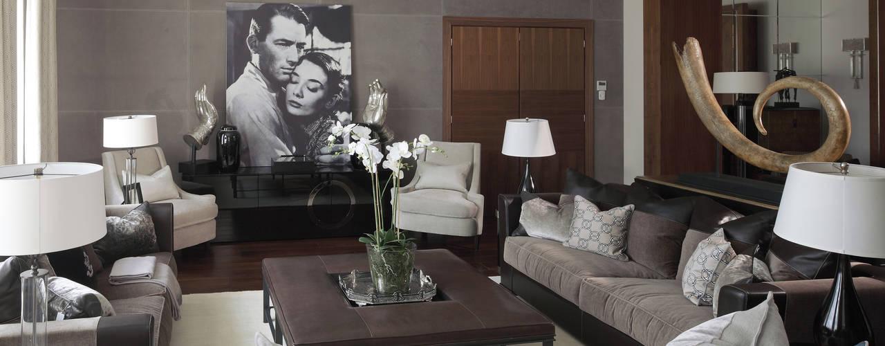 Living room by Архитектурное бюро Бахарев и Партнеры