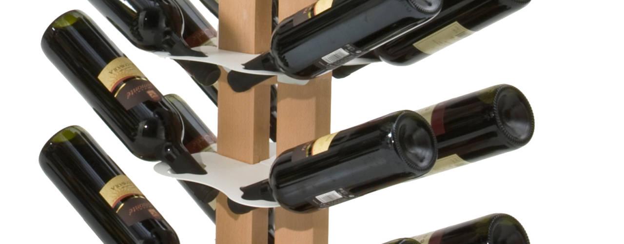 Portabottiglie di vino Zia Gaia Le zie di Milano CasaArticoli Casalinghi Legno massello Effetto legno