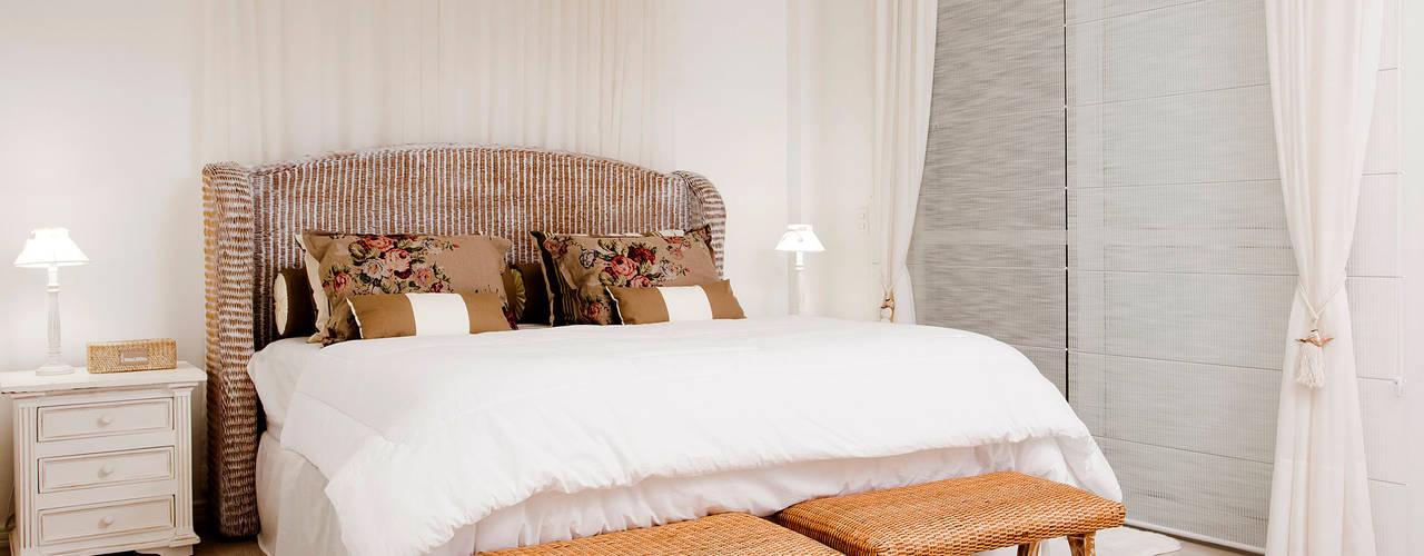Casa de praia Quartos rústicos por Priscila Koch Arquitetura + Interiores Rústico