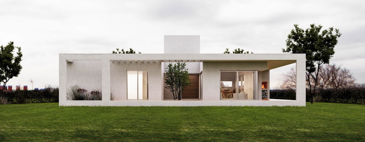 Single family home by 1.61 Arquitectos, Minimalist