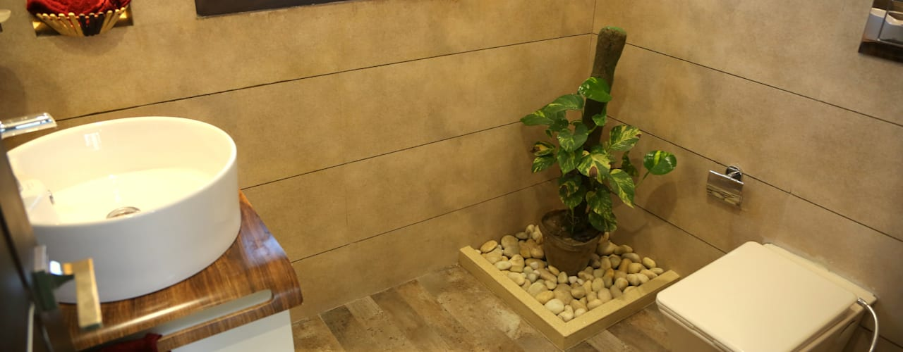 Ванная комната в стиле модерн от Aayam Consultants Модерн